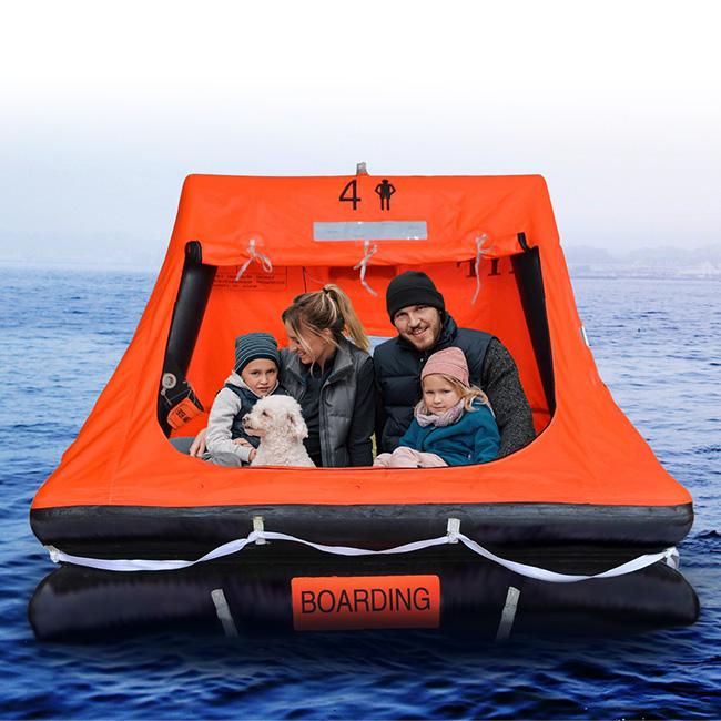 自動膨張救命いかだ ゴムボート